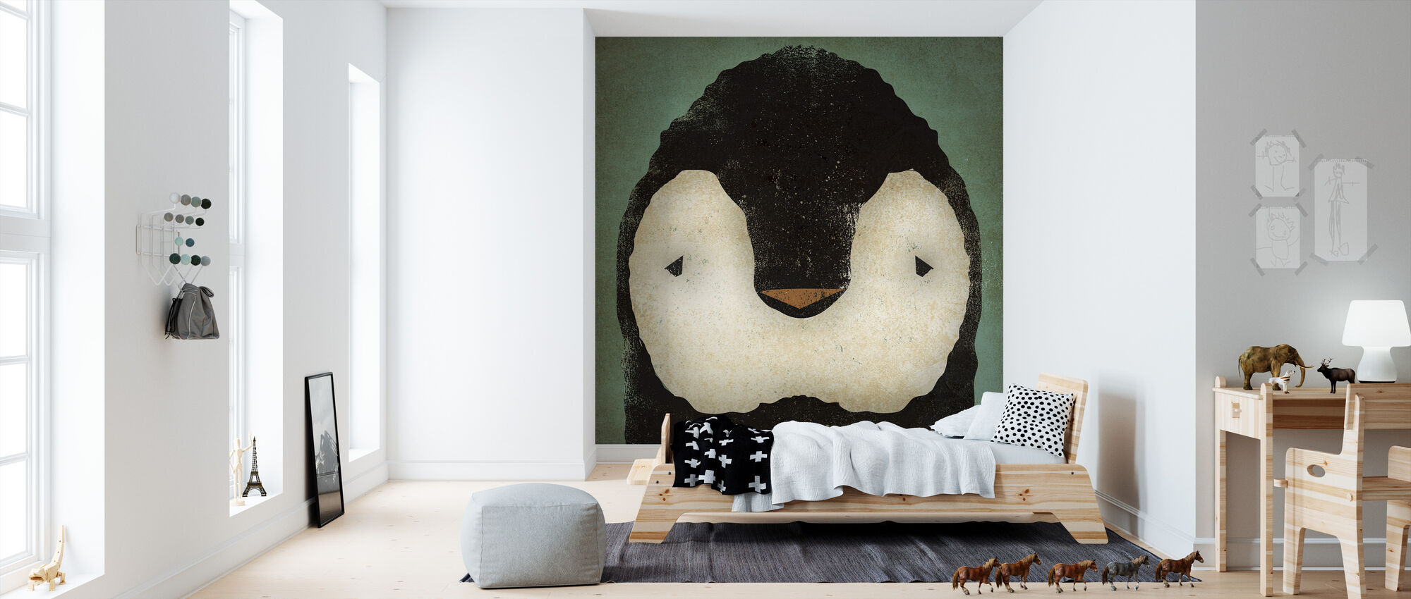 Baby Pinguïn - Behang - Kinderkamer