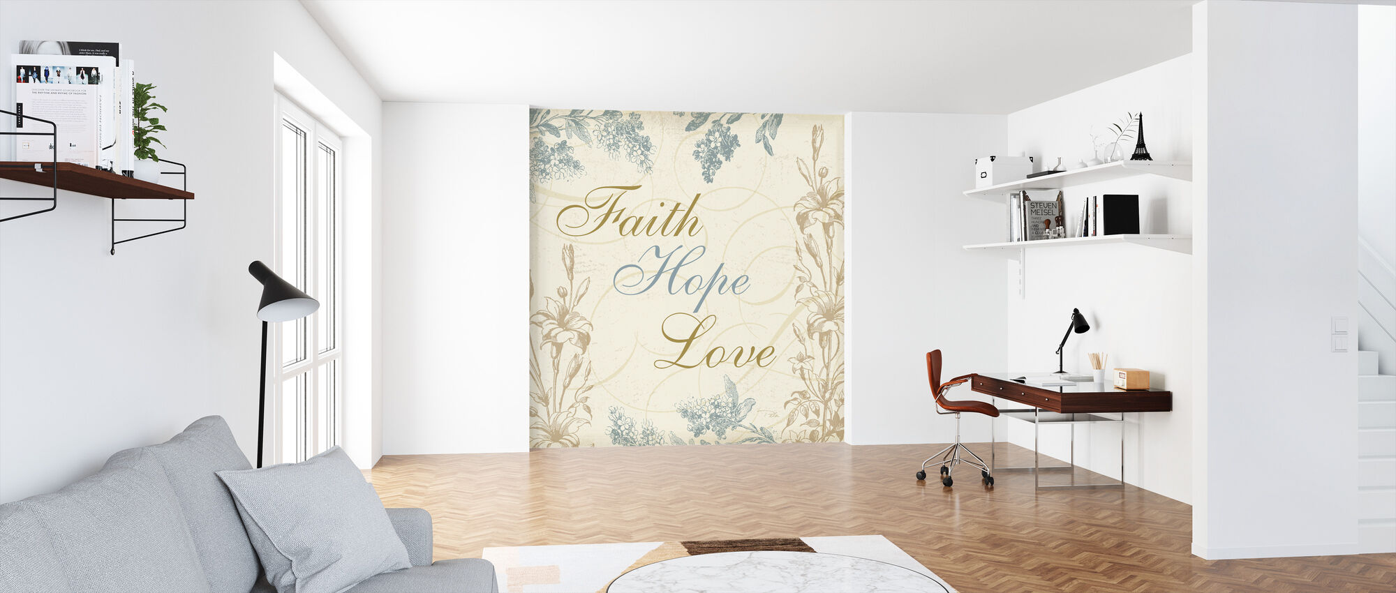Faith Hope Love - Wallpaper - Office