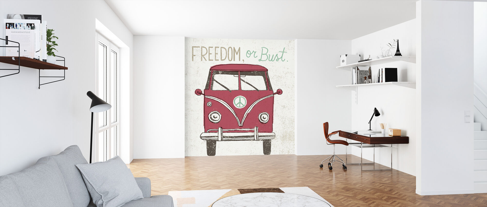 Road Trip - Bus - Wallpaper - Office
