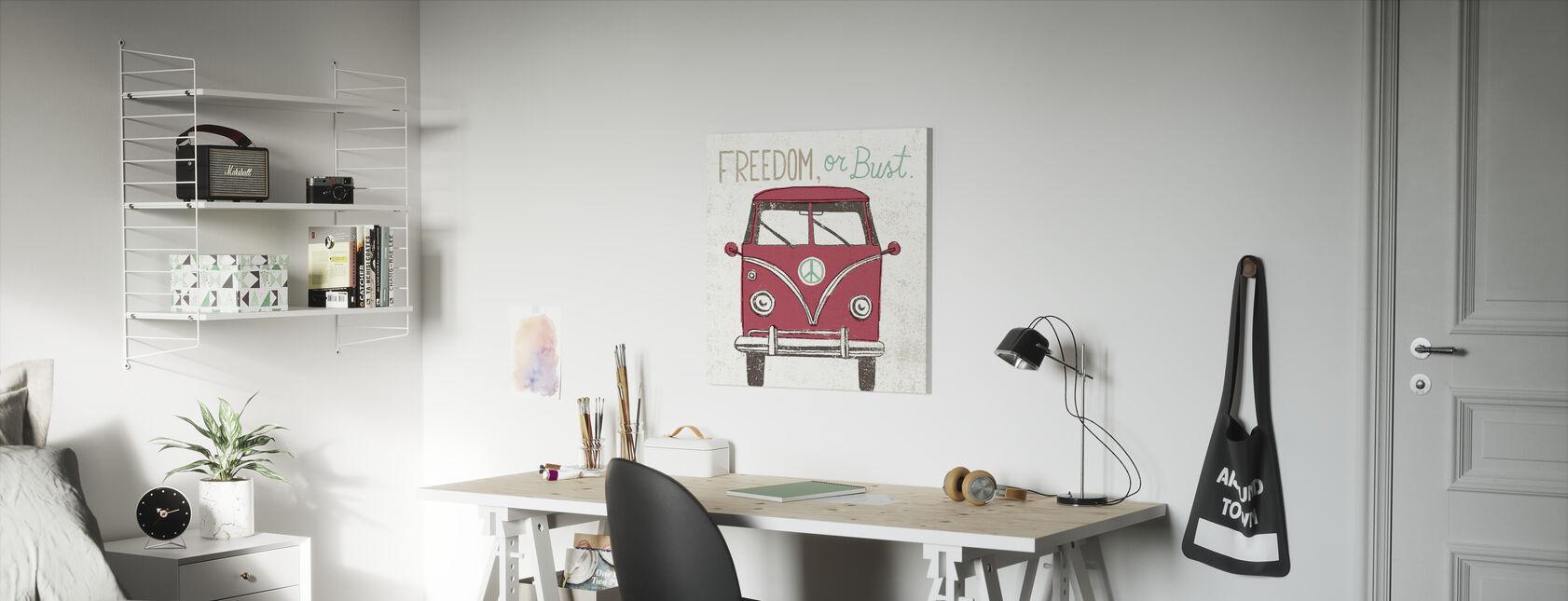 Road Trip - Bus - Canvas print - Kinderkamer
