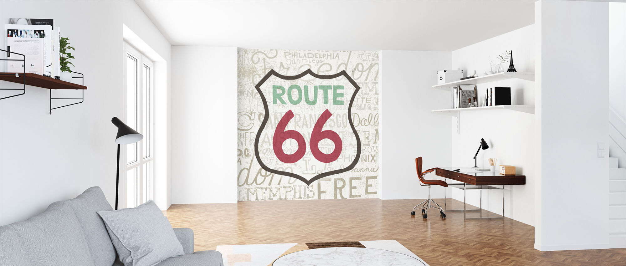 Road Trip - Route 66 - Wallpaper - Office