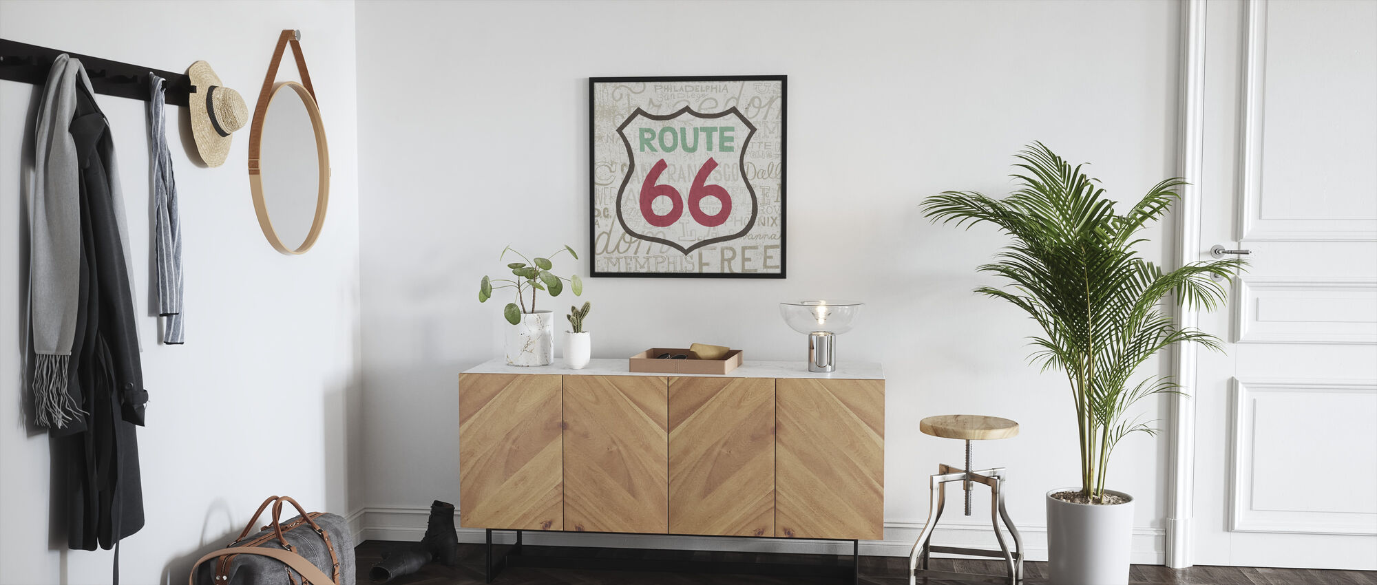 Road Trip - Route 66 - Framed print - Hallway