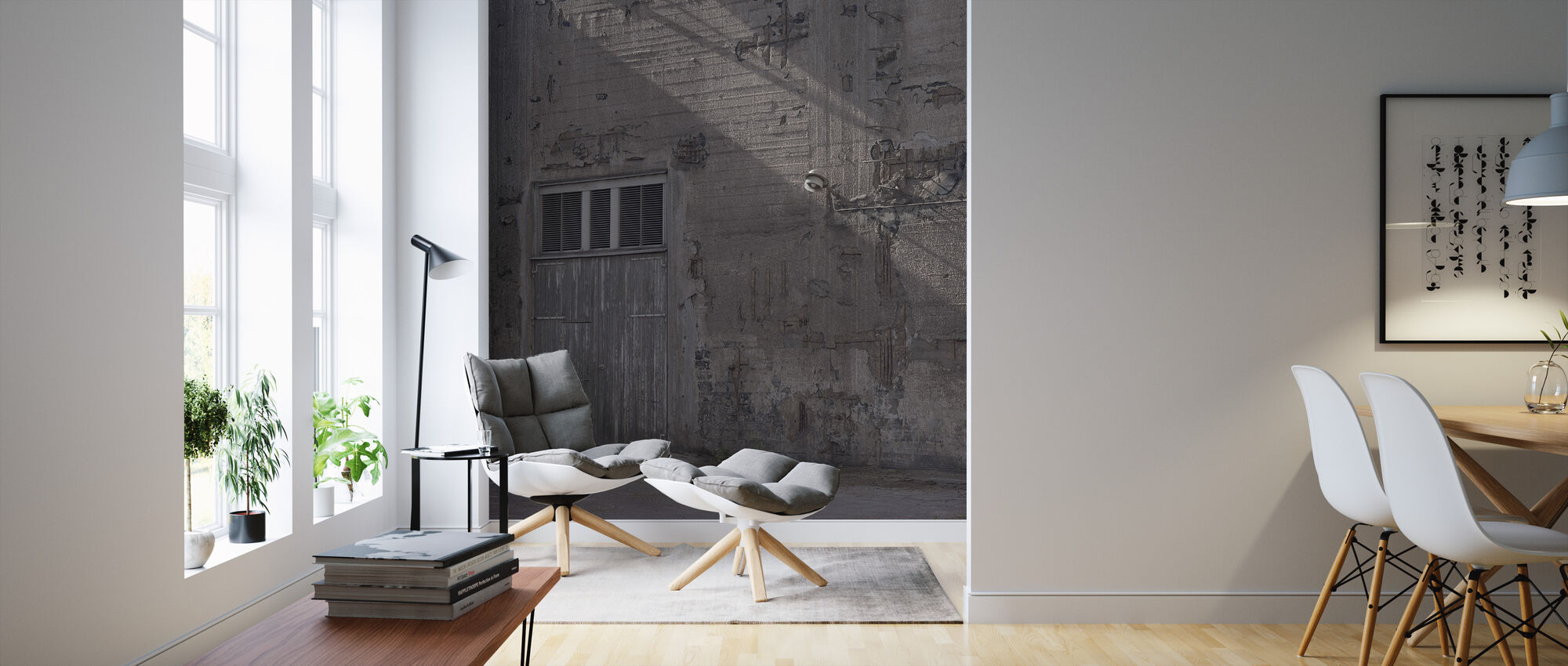 Concrete Facade - Wallpaper - Living Room