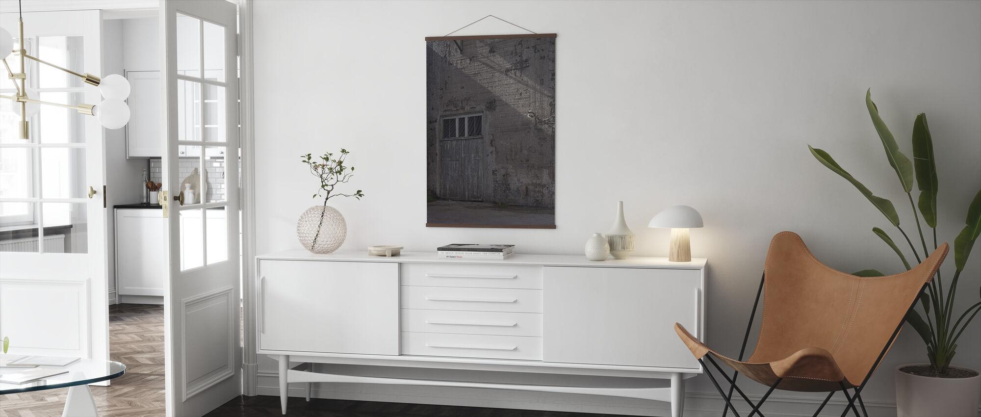 Concrete Facade - Poster - Living Room