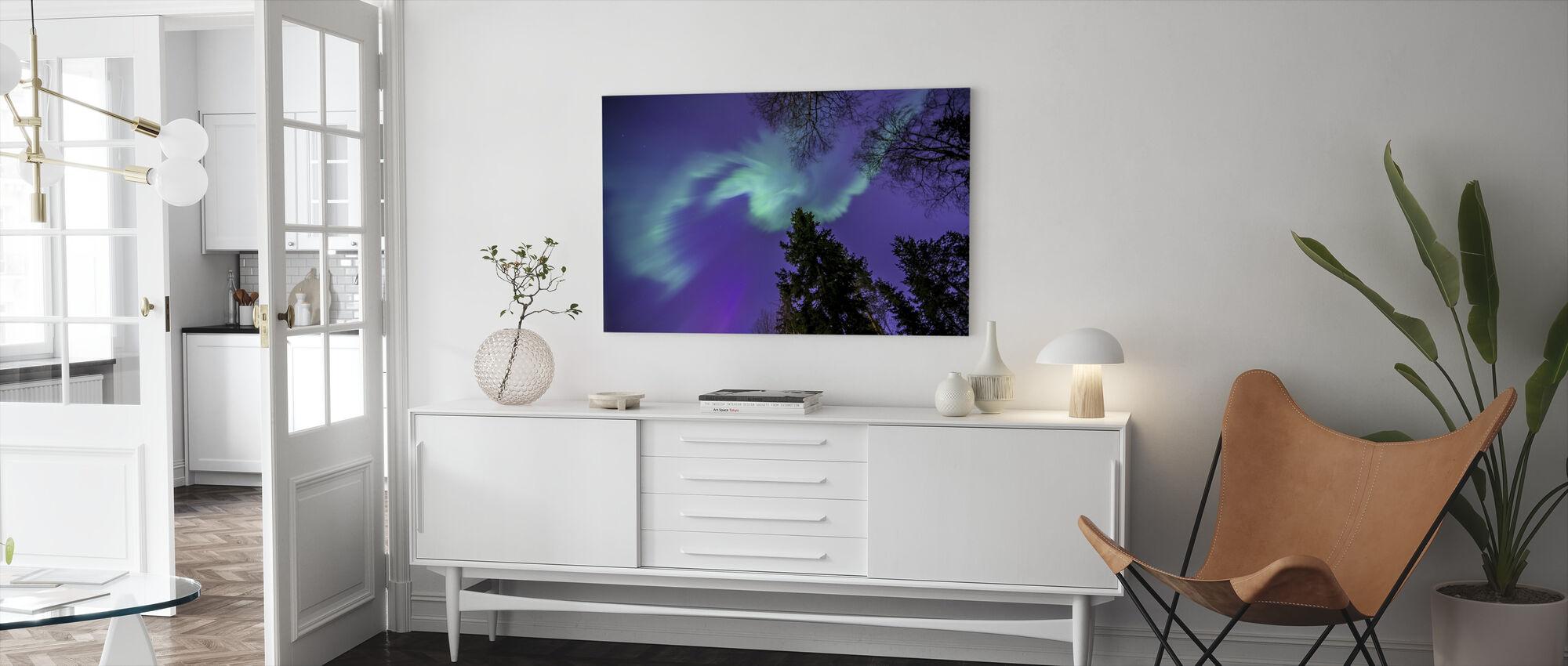 Northern Light - Violetti taivas - Canvastaulu - Olohuone