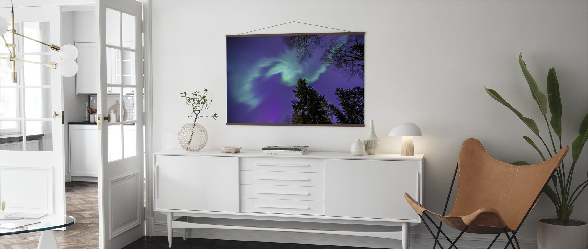 Northern Light - Purple Sky - Poster - Living Room