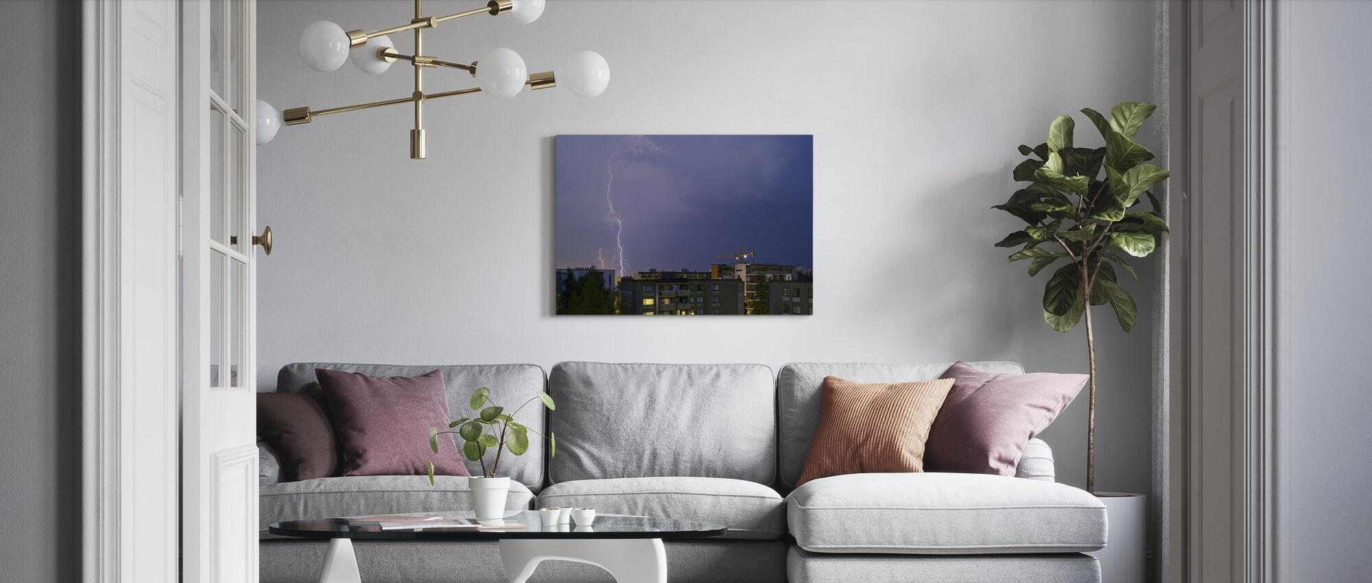 Flash among Apartments - Canvas print - Living Room