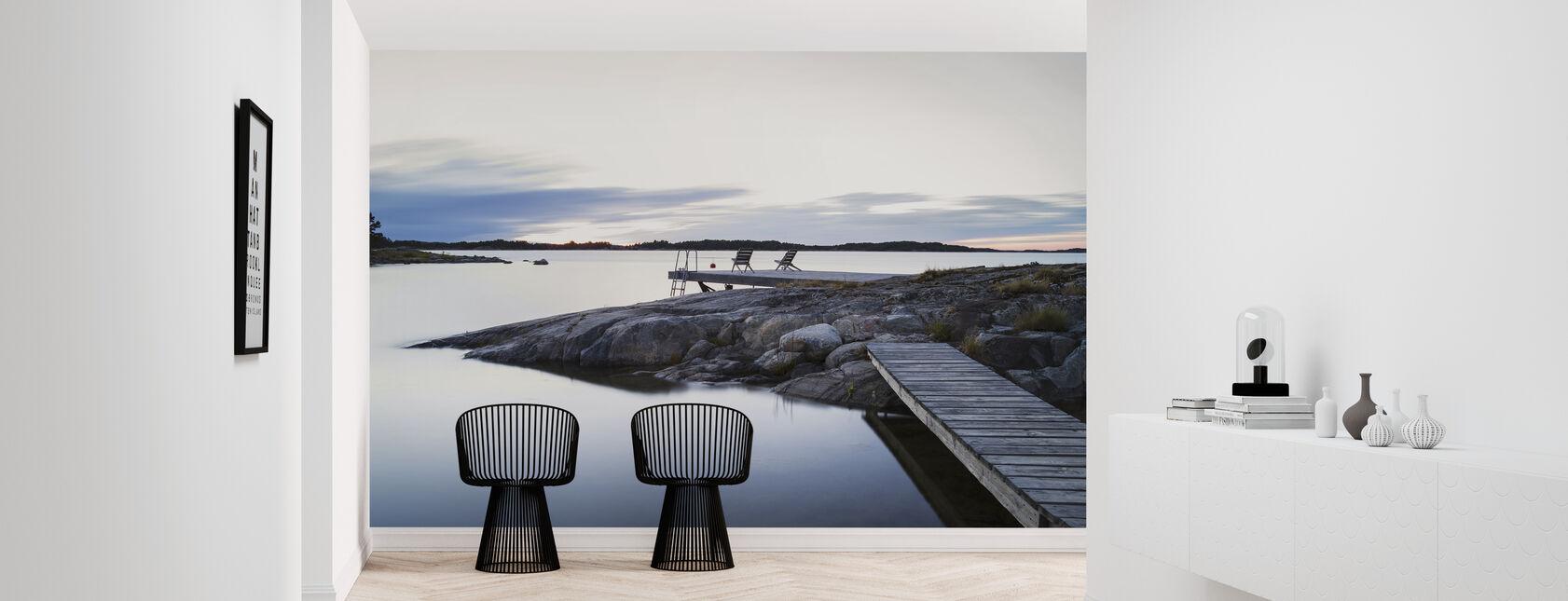 Avkopplande stolar vid Östersjön - Tapet - Hall