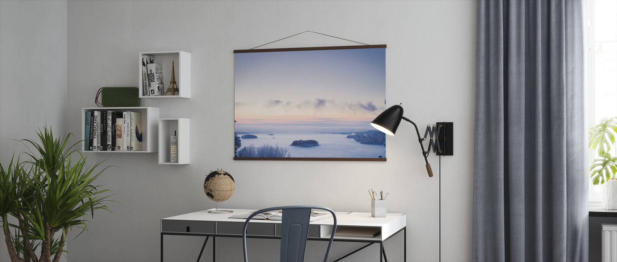 Finnish Winter Landscape - Poster - Office