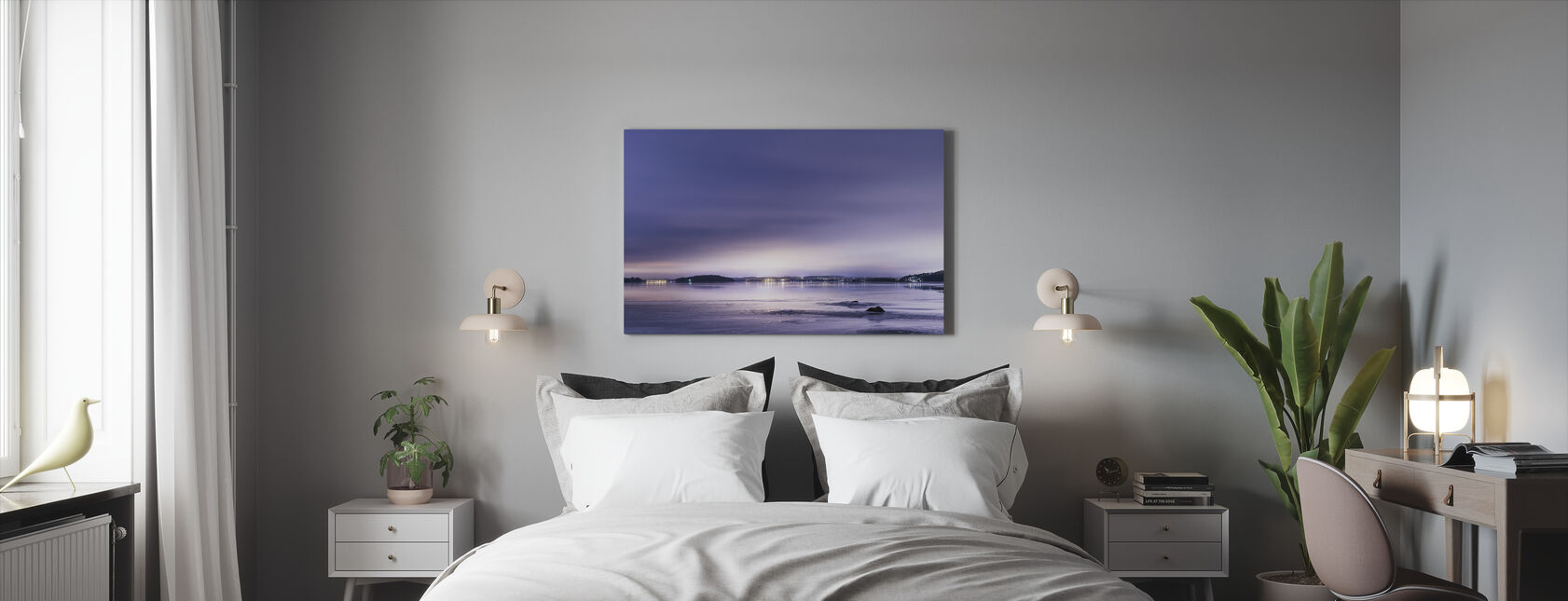 Purple Evening - Canvas print - Bedroom