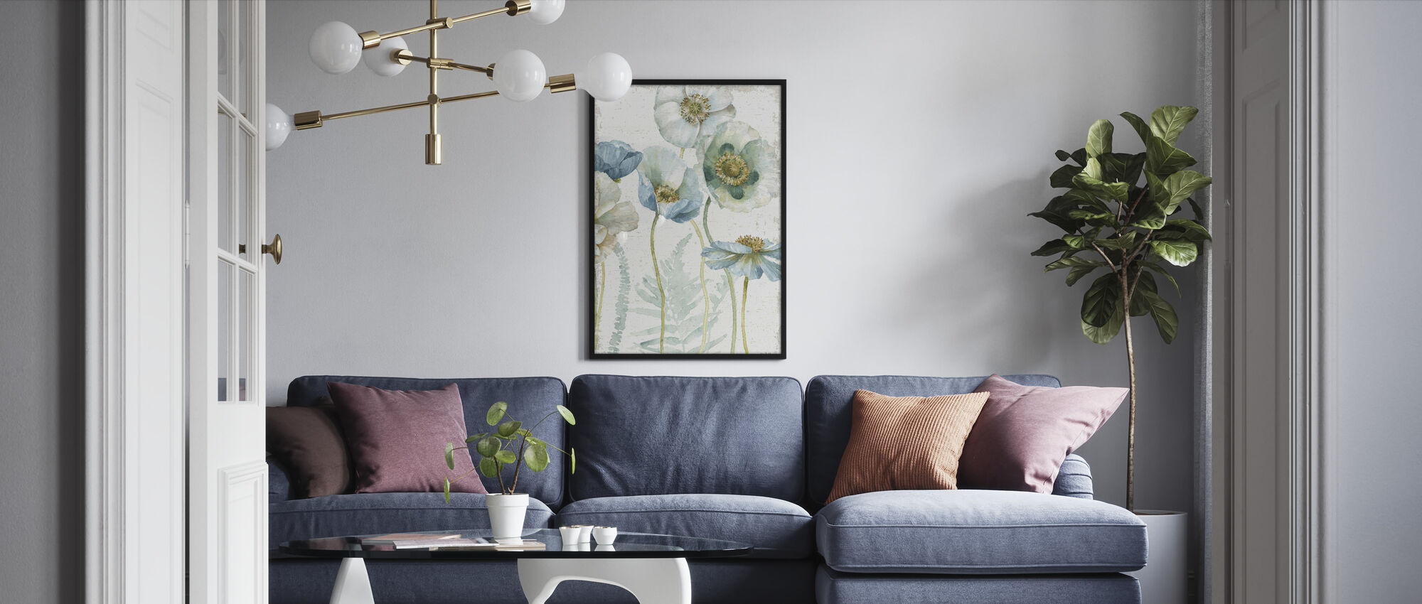 My Greenhouse Flowers on Wood - Framed print - Living Room