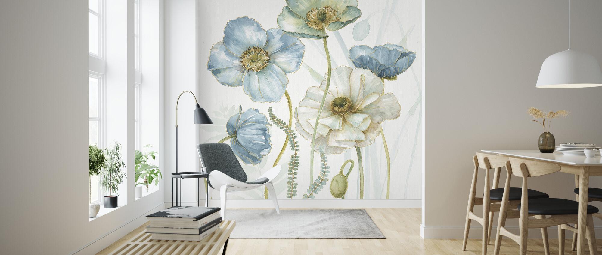 Mijn broeikas Bloemen 5 - Behang - Woonkamer