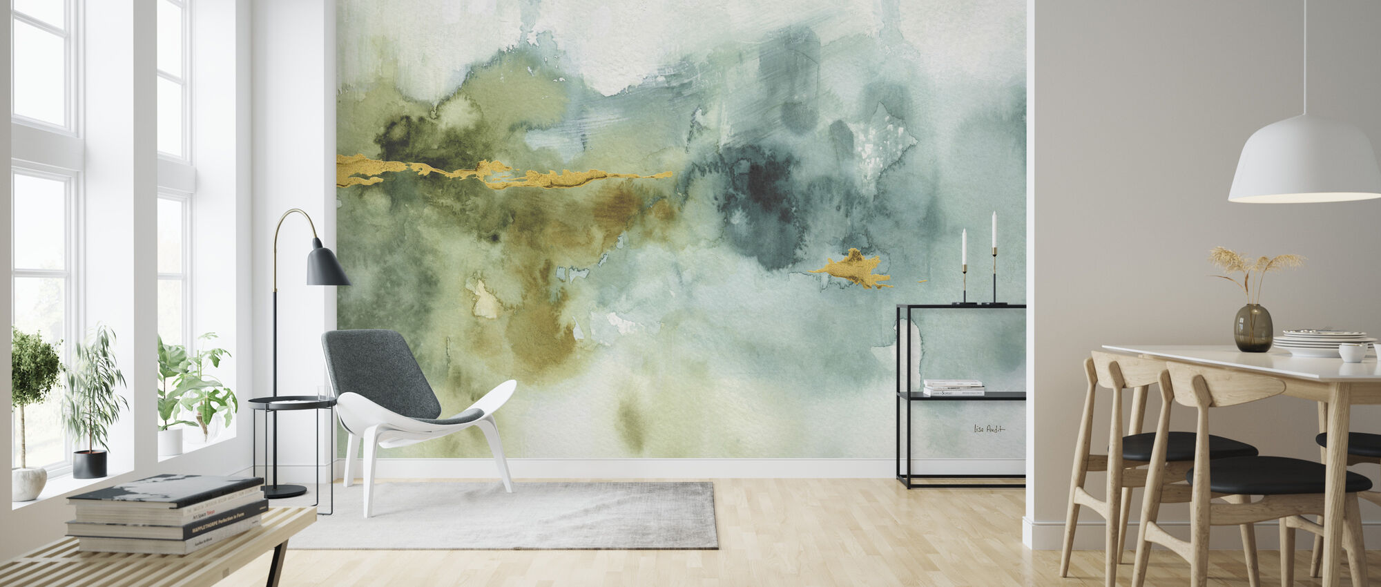Mein Gewächshaus Aquarell 4 - Tapete - Wohnzimmer