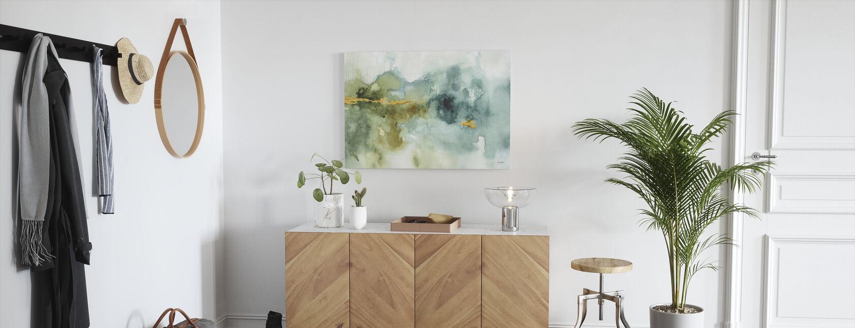 Mein Gewächshaus Aquarell 4 - Leinwandbild - Flur