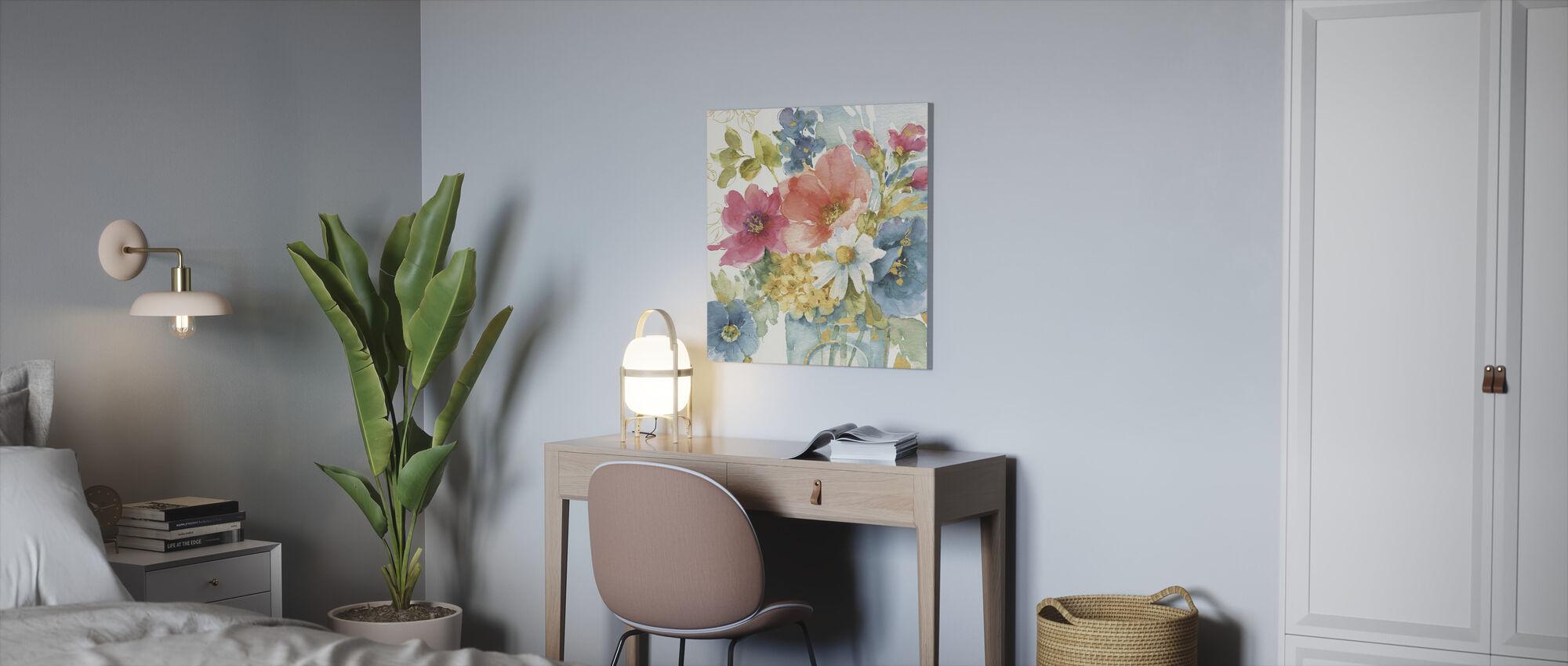 Mijn Tuin Boeket - Canvas print - Kantoor