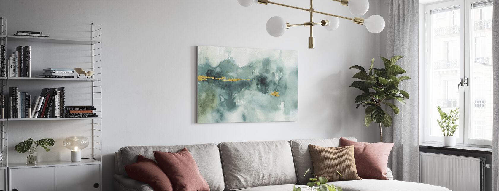 Min växthus akvarell 3 - Canvastavla - Vardagsrum