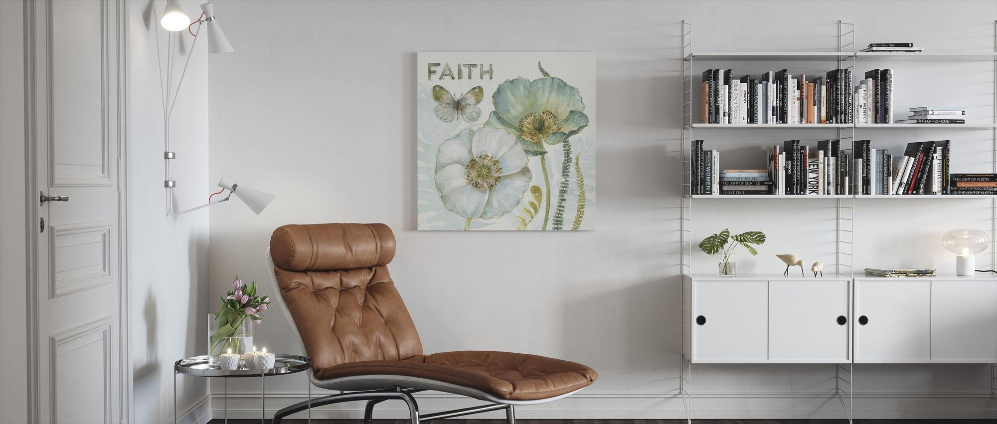 Mijn kas Bloemen - Faith - Canvas print - Woonkamer