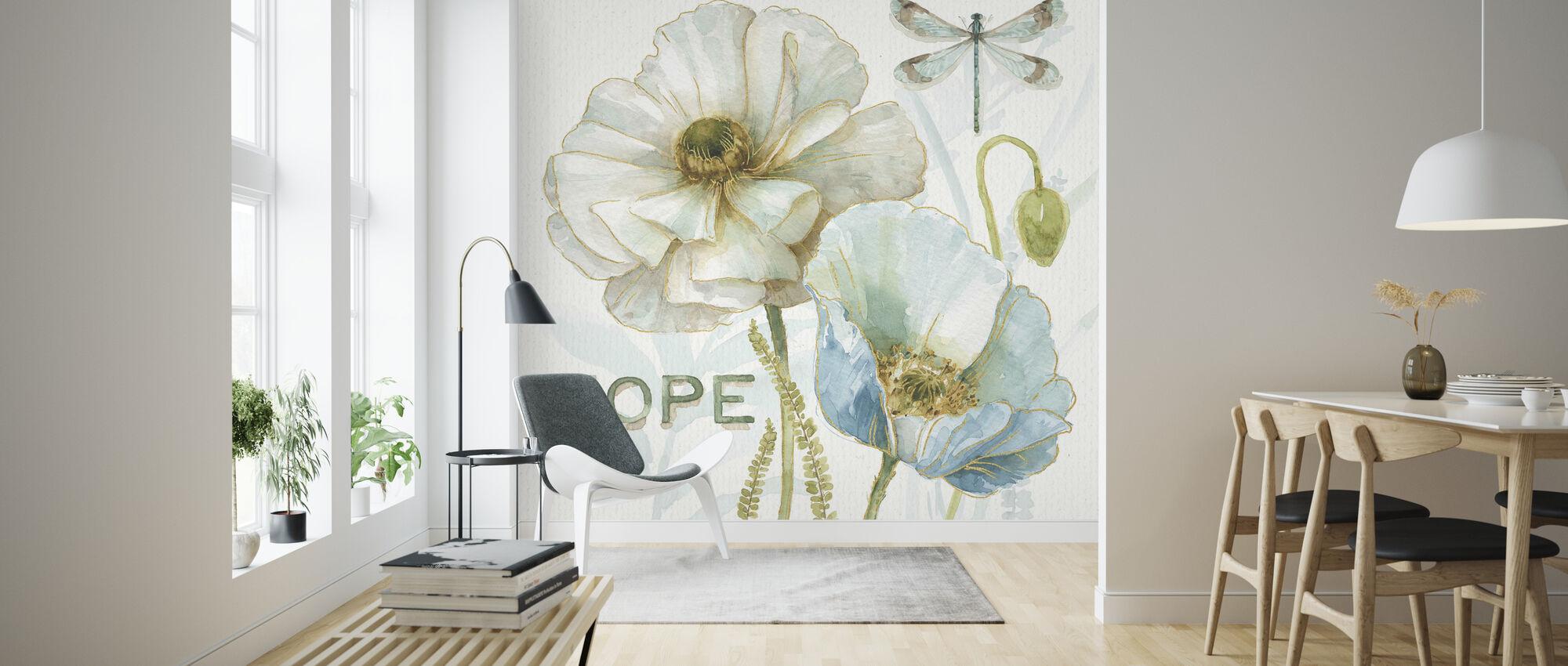 Mine drivhus Blomster - Håp - Tapet - Stue