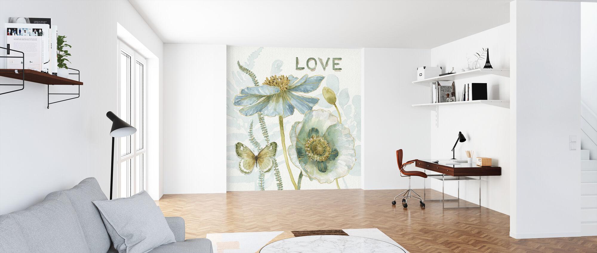 Mit drivhus Blomster - Kærlighed - Tapet - Kontor