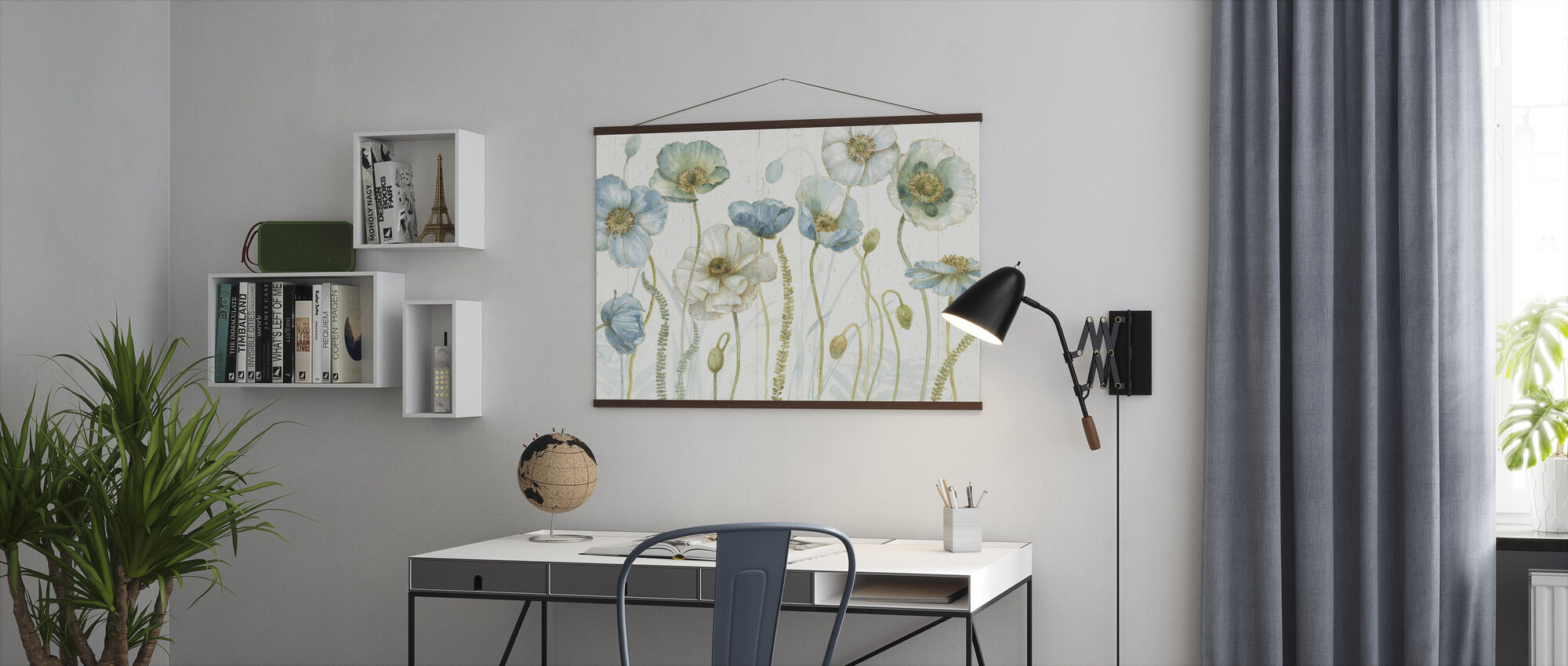 My Greenhouse Flowers on Wood - Poster - Office