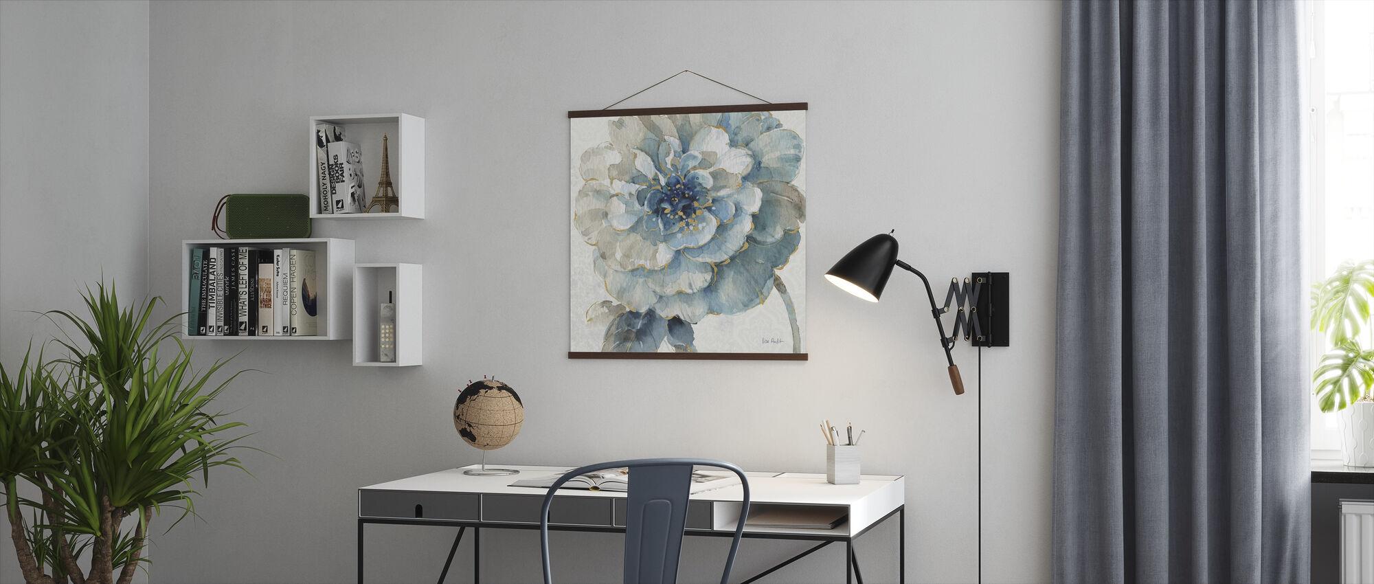 Indigold Blomster 3 - Plakat - Kontor
