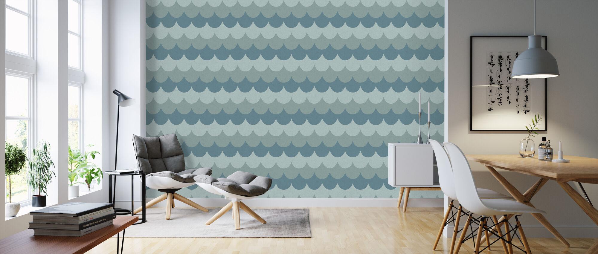 Flow Blue - Wallpaper - Living Room