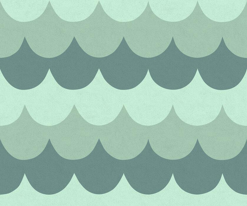 flow mint stilvolle tapete h chster qualit t mit schneller lieferung photowall. Black Bedroom Furniture Sets. Home Design Ideas