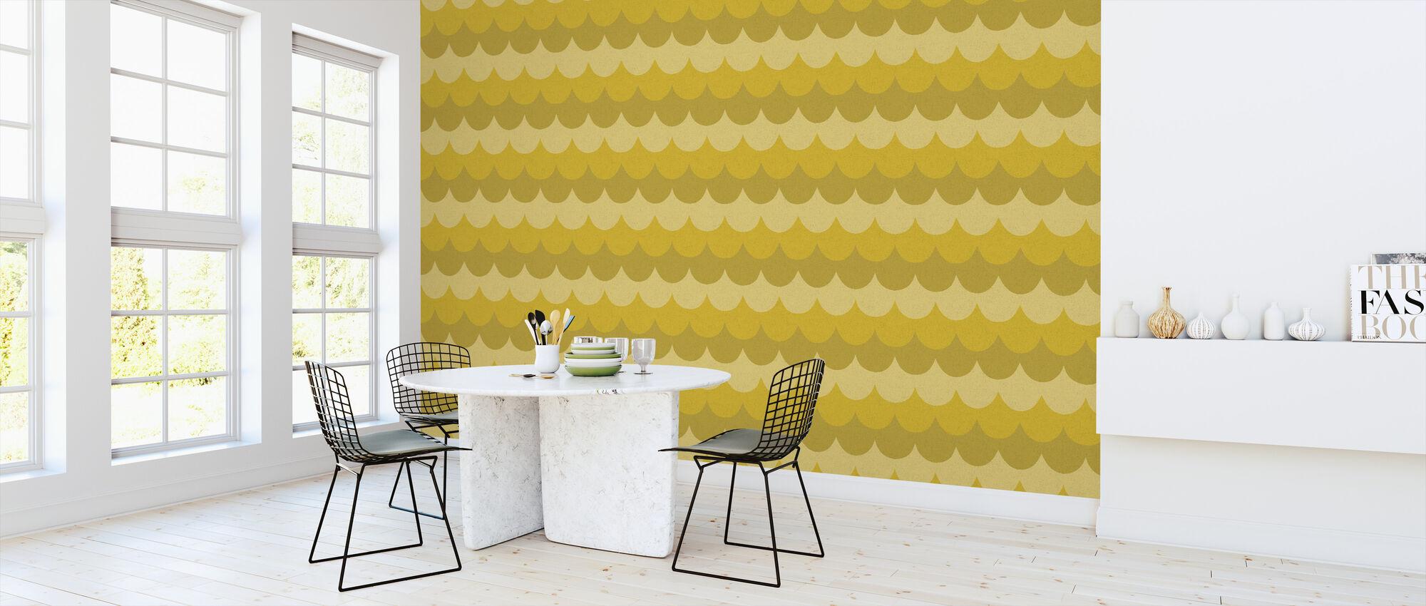 Flow Yellow - Wallpaper - Kitchen