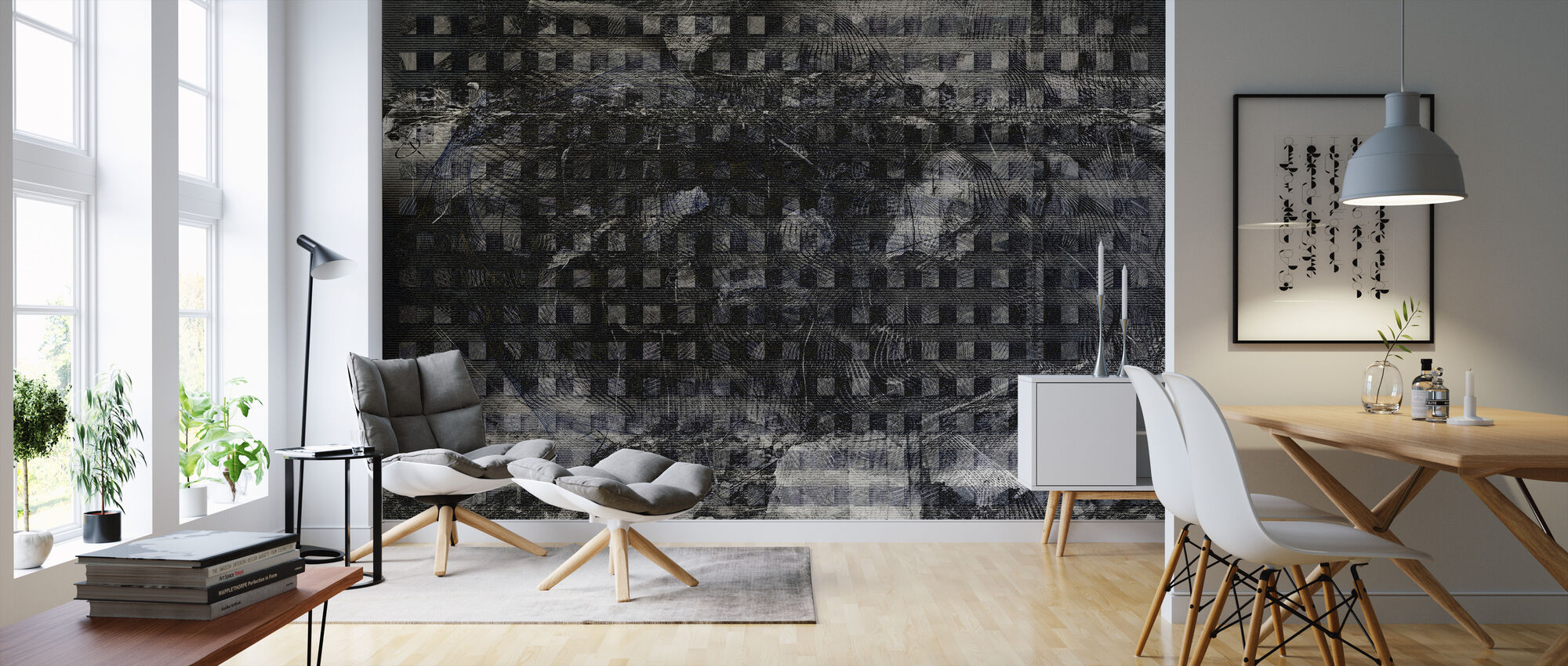 Orchid Security Chaos Grey - Wallpaper - Living Room