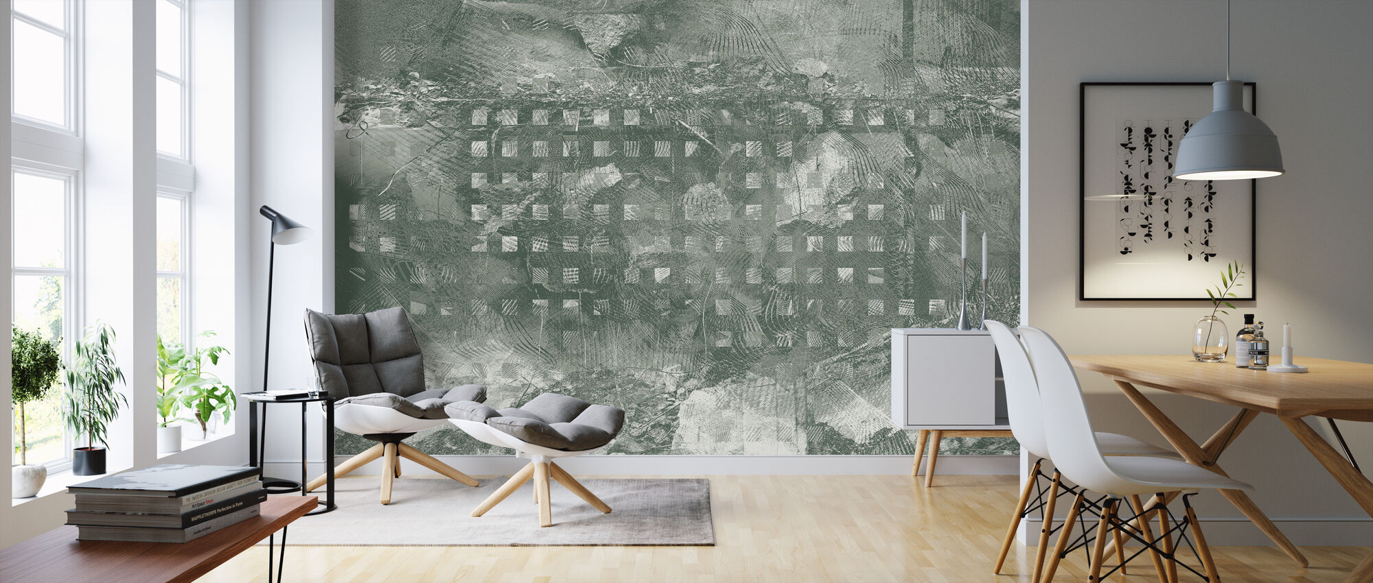 Orchid Security Chaos Green - Wallpaper - Living Room