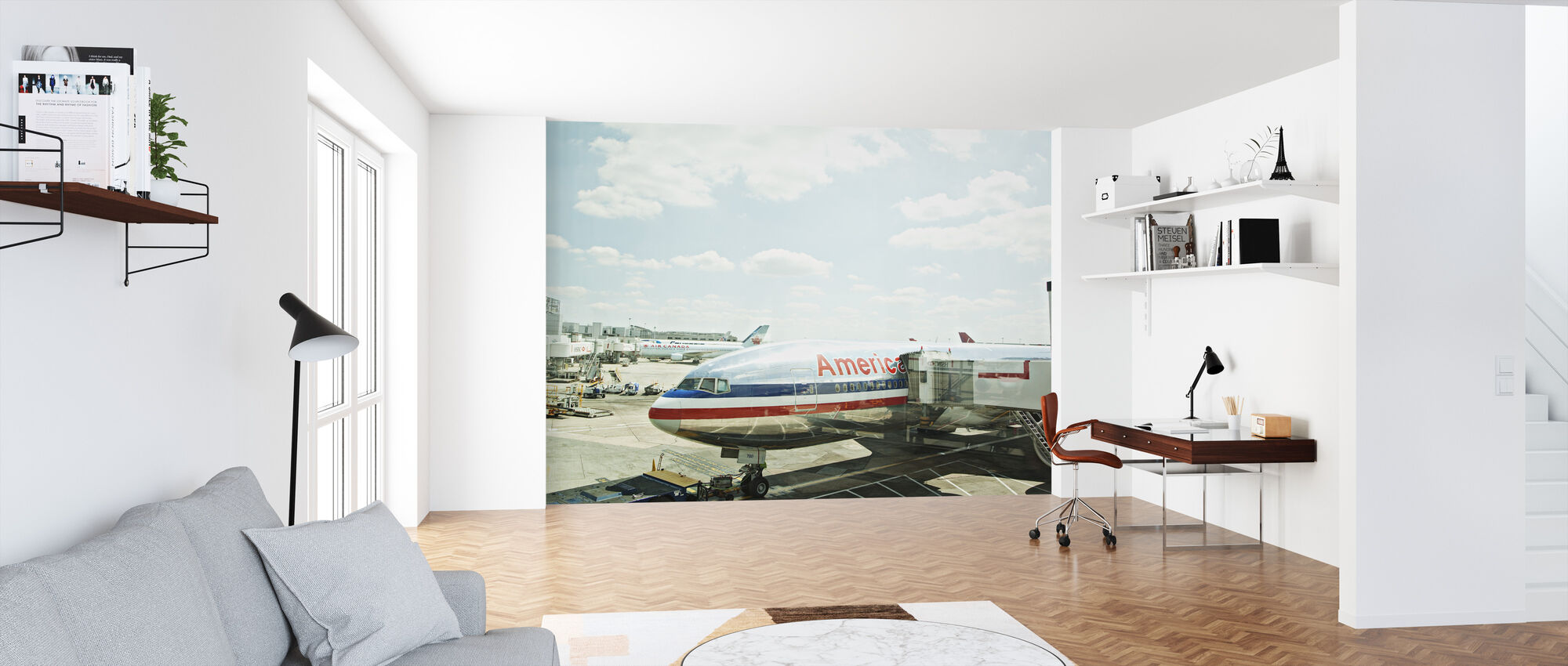 Airplane in Heathrow, England - Wallpaper - Office