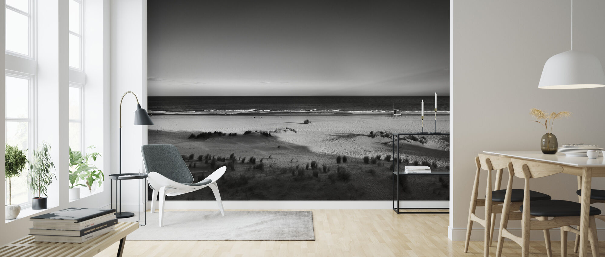 Beach in Argentina - Wallpaper - Living Room