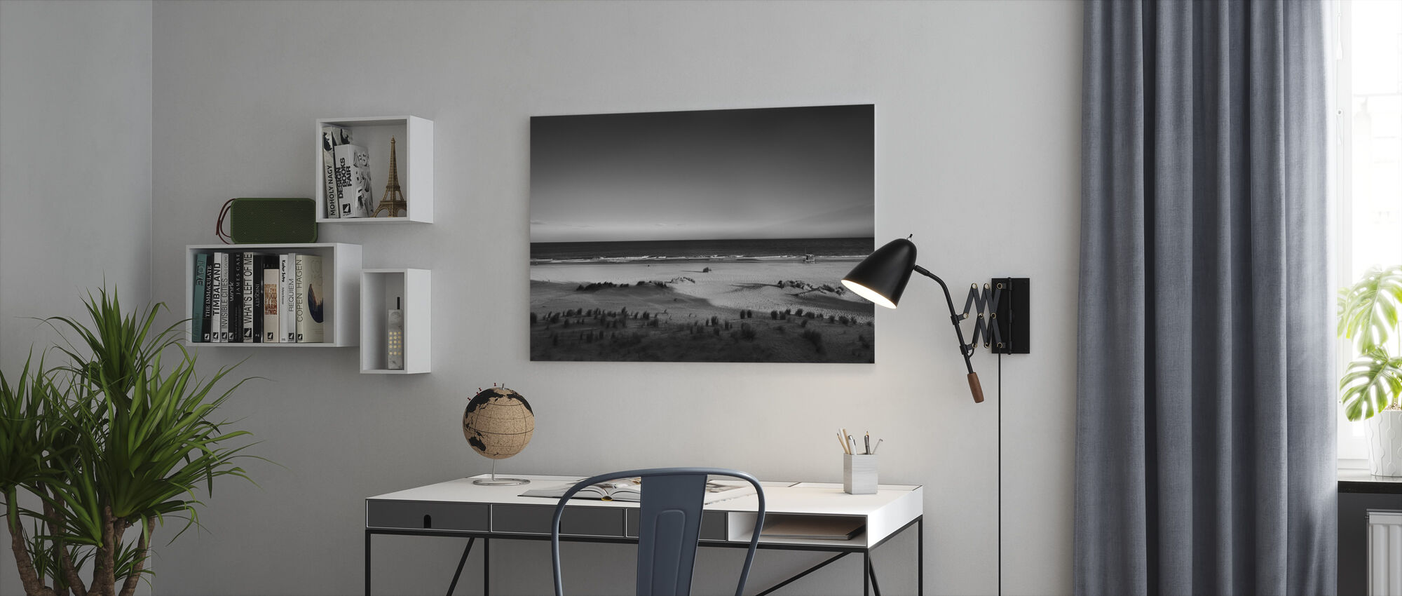 Beach in Argentina - Canvas print - Office