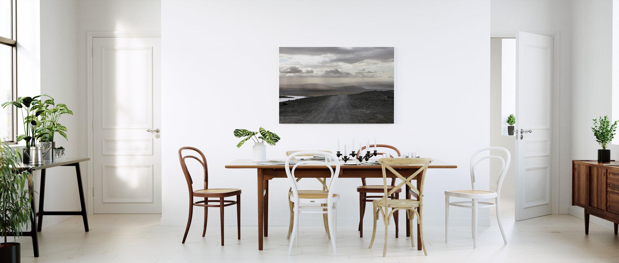 Isländskt landskap - Canvastavla - Kök