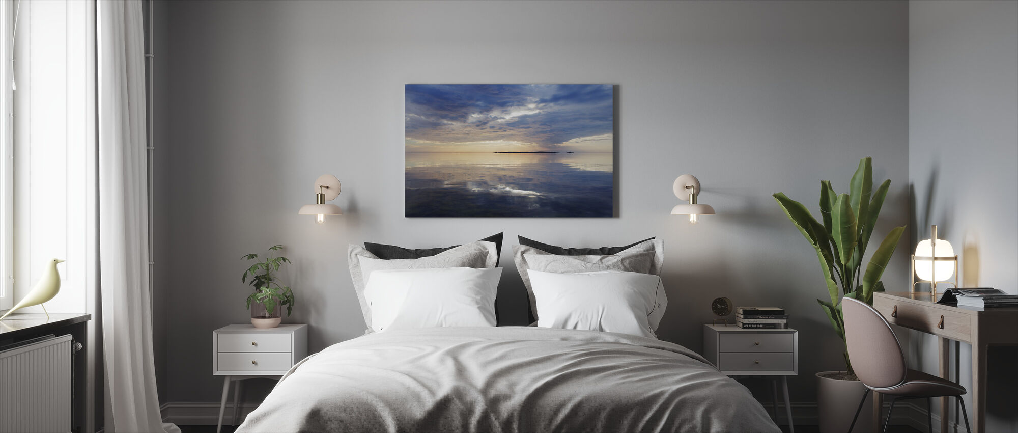 Sky Mirrored in Baltic Sea - Canvas print - Bedroom