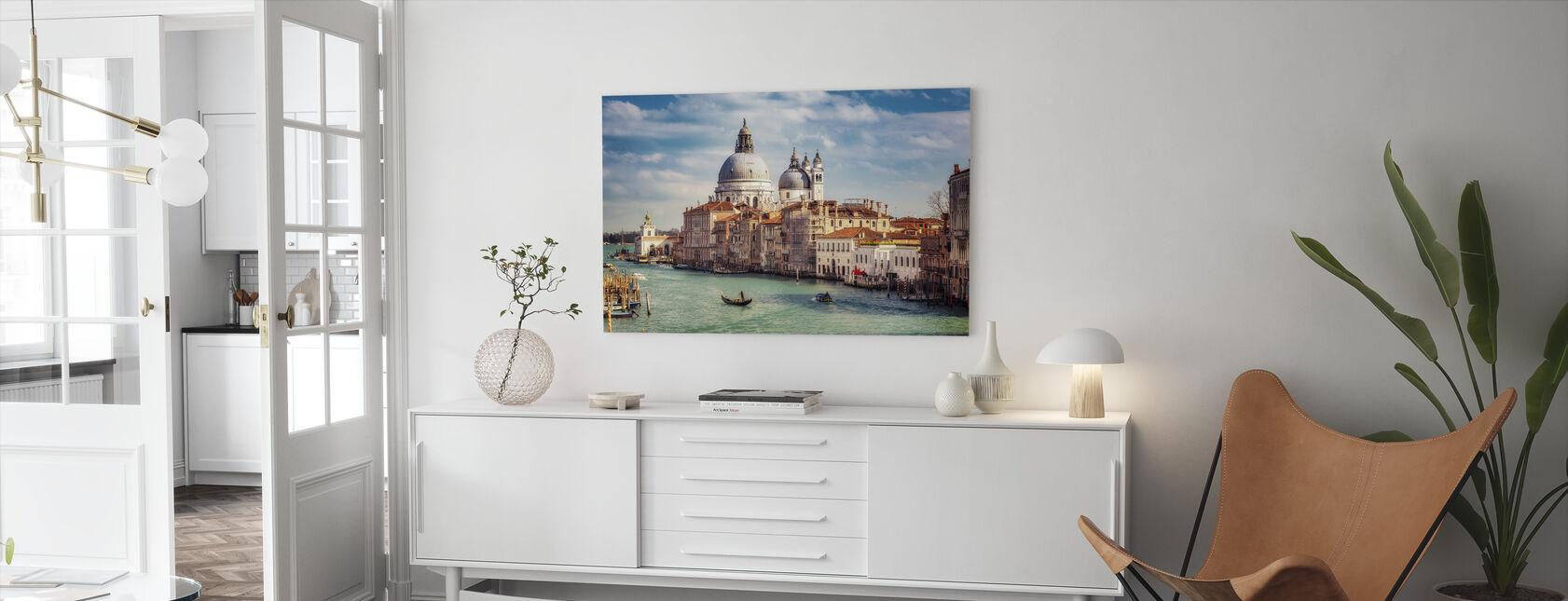 Basílica de Santa Maria della Salute en Venecia - Lienzo - Salón