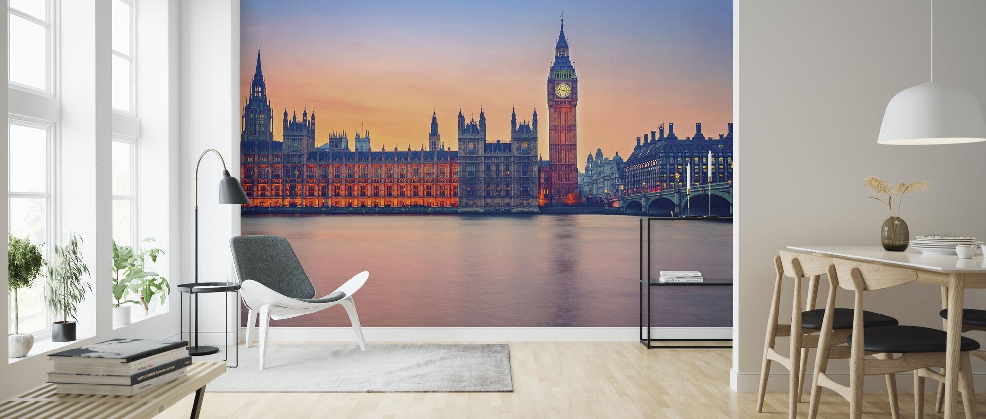 Big Ben and Houses of Parliament - Wallpaper - Living Room