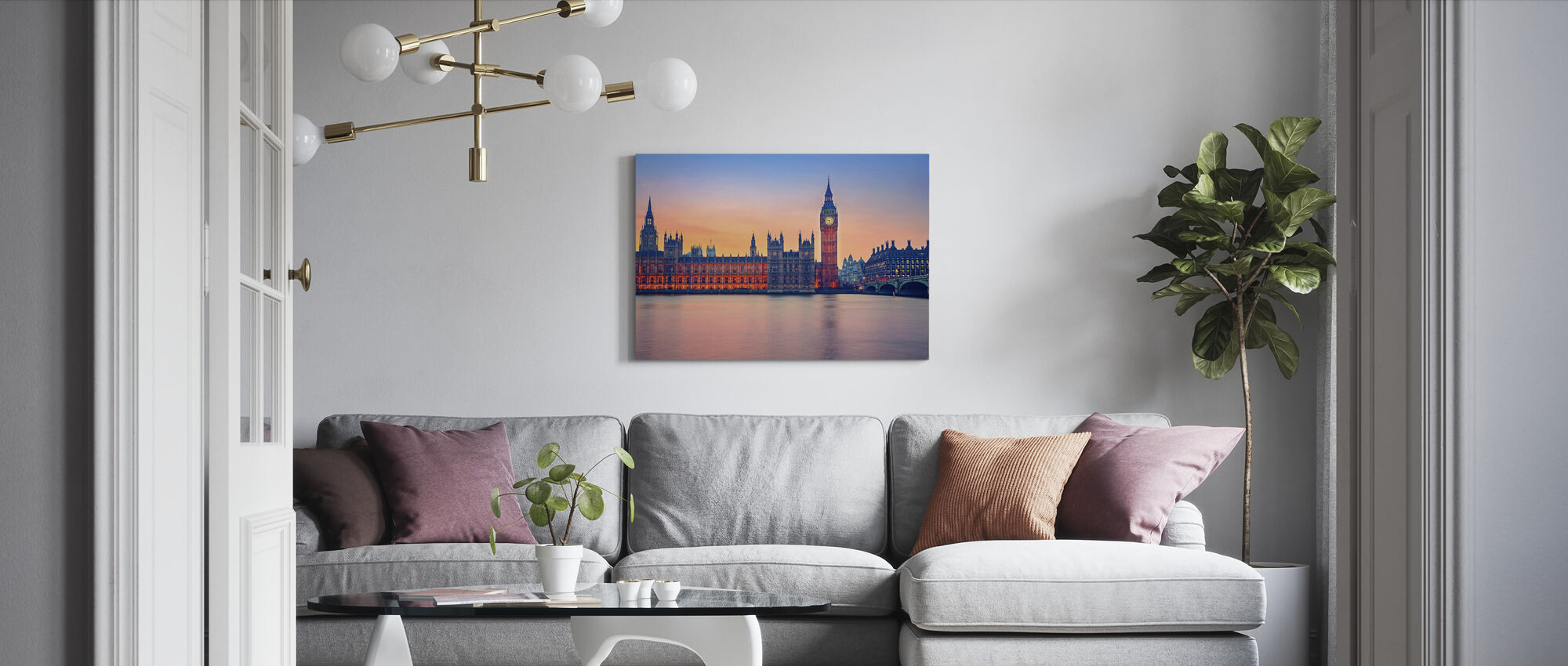Big Ben and Houses of Parliament - Canvas print - Living Room