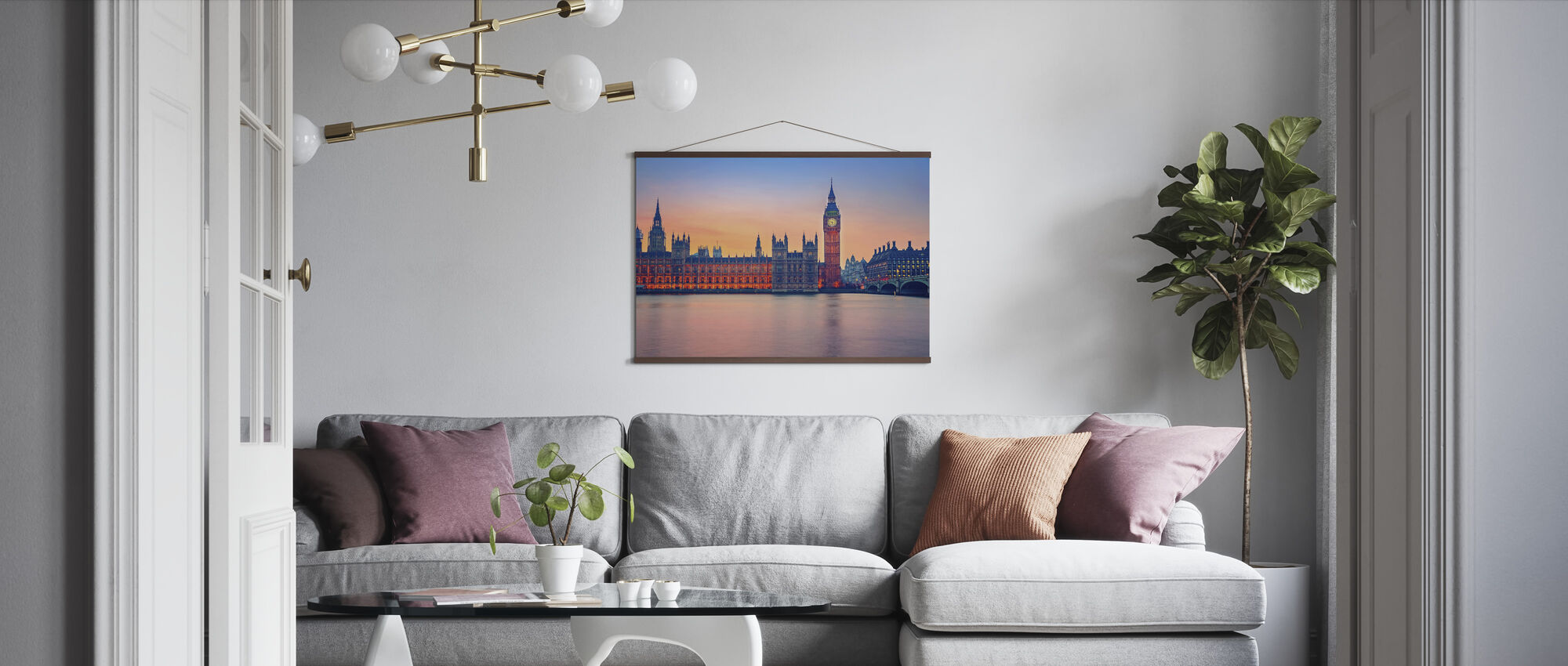 Big Ben and Houses of Parliament - Poster - Living Room