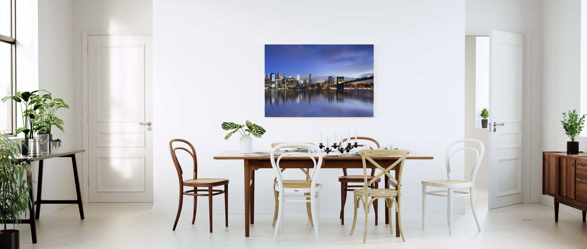 Blauwe zonsopgang over Manhattan - Canvas print - Keuken
