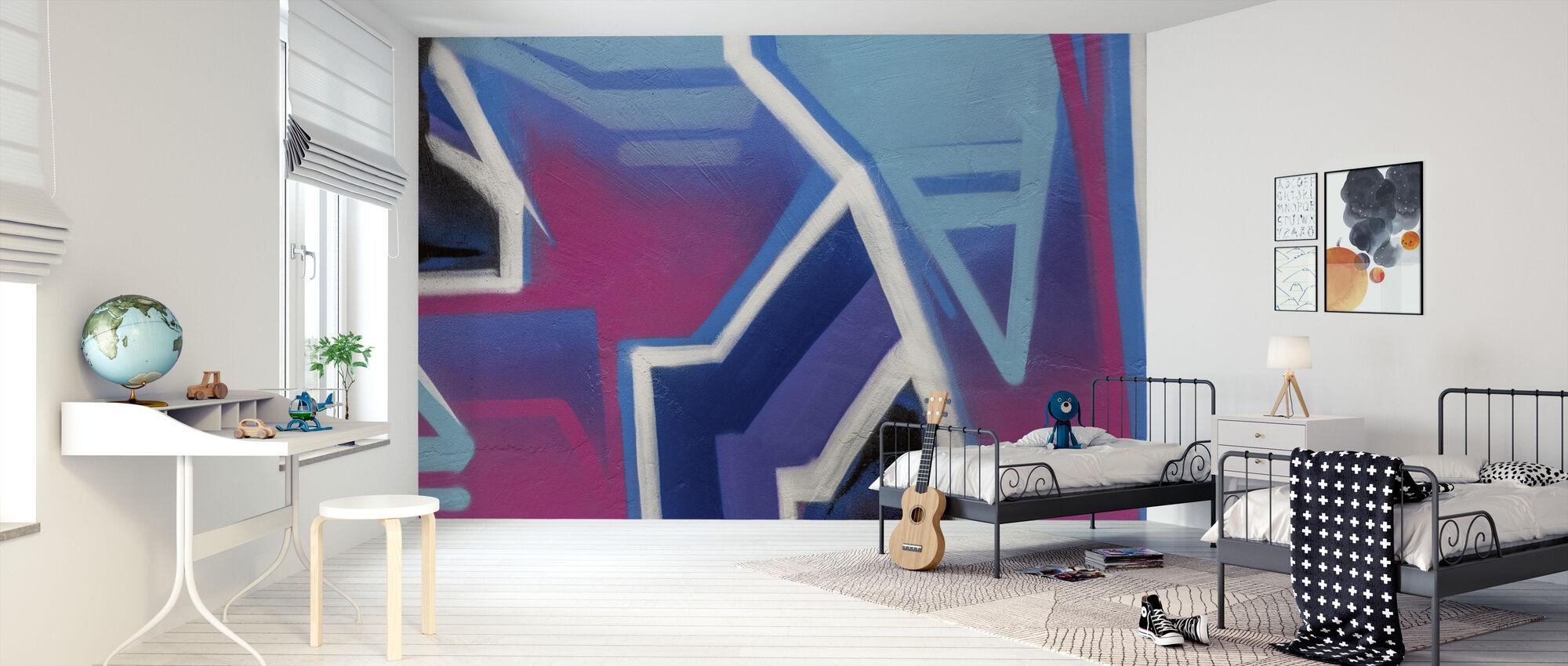 Graffiti Cerise Brillante - Papel pintado - Cuarto de niños