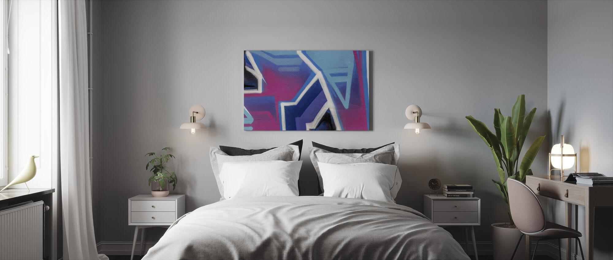 Kirkas Cerise graffiti - Canvastaulu - Makuuhuone