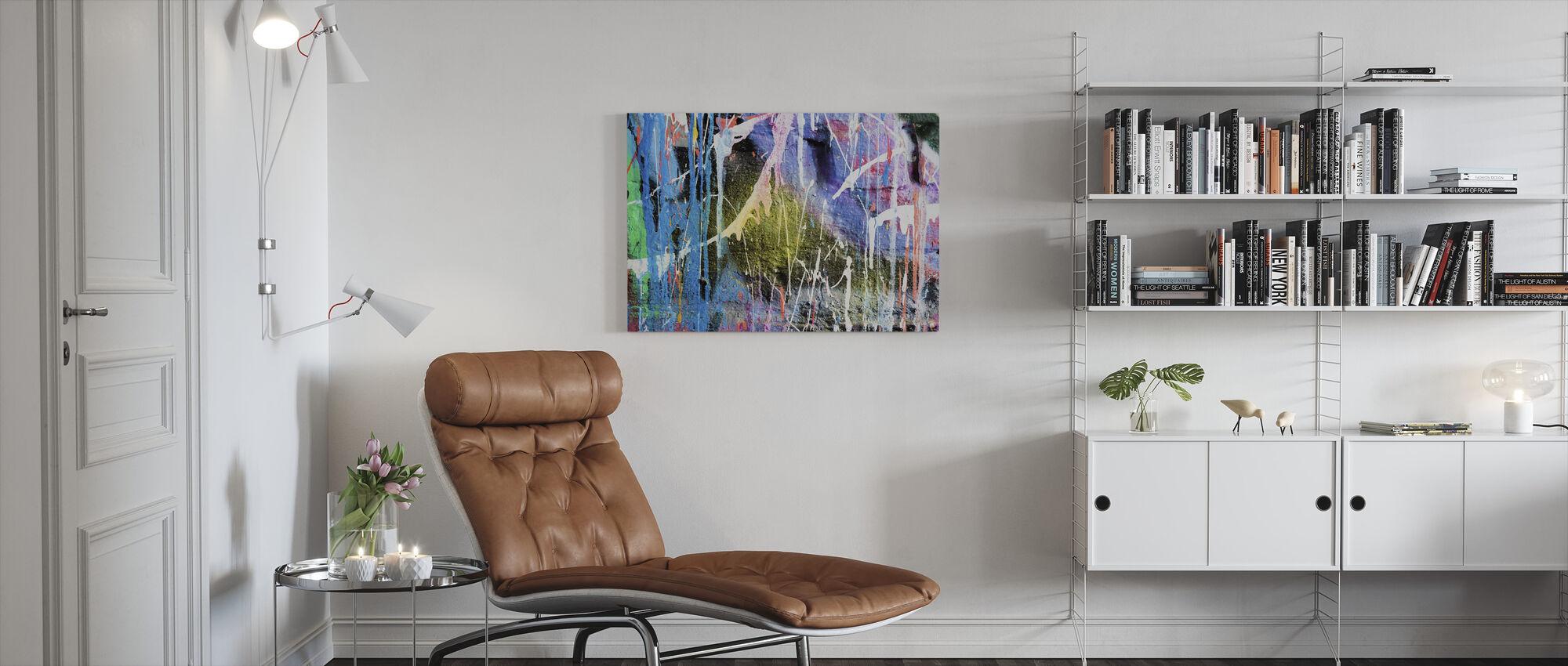 Dripping Paint Graffiti Wall - Canvas print - Living Room