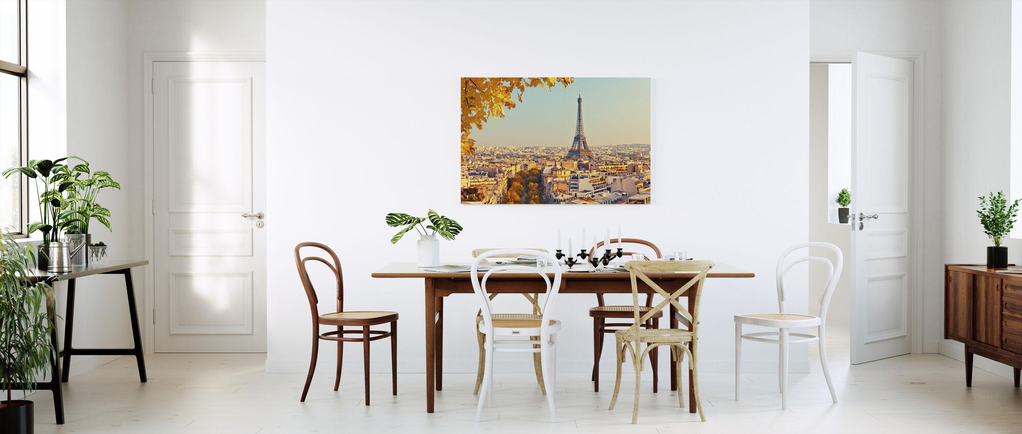 Eiffeltornet Höstutsikt - Canvastavla - Kök