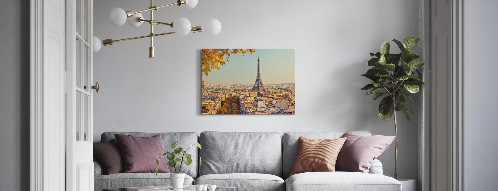 Eiffeltårnet Efterårsudsigt - Billede på lærred - Stue