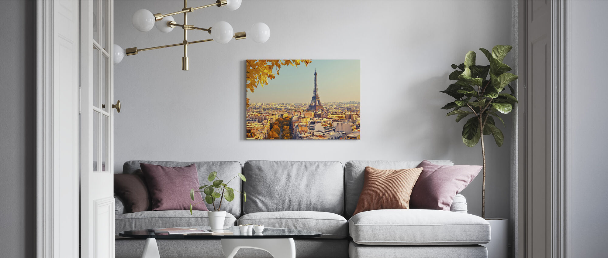 Eiffeltårnet, høstutsikt - Lerretsbilde - Stue