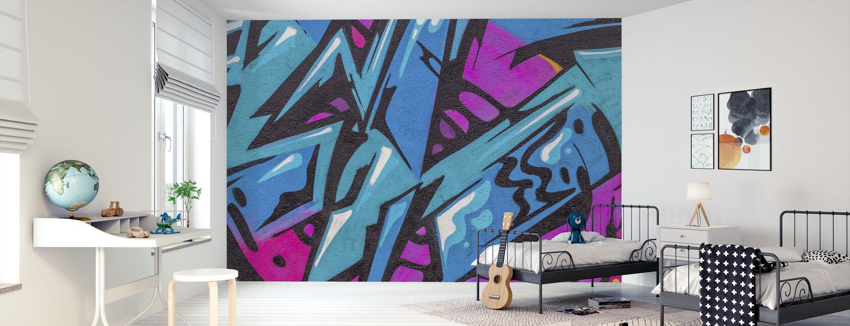 Mode farve graffiti - Tapet - Børneværelse