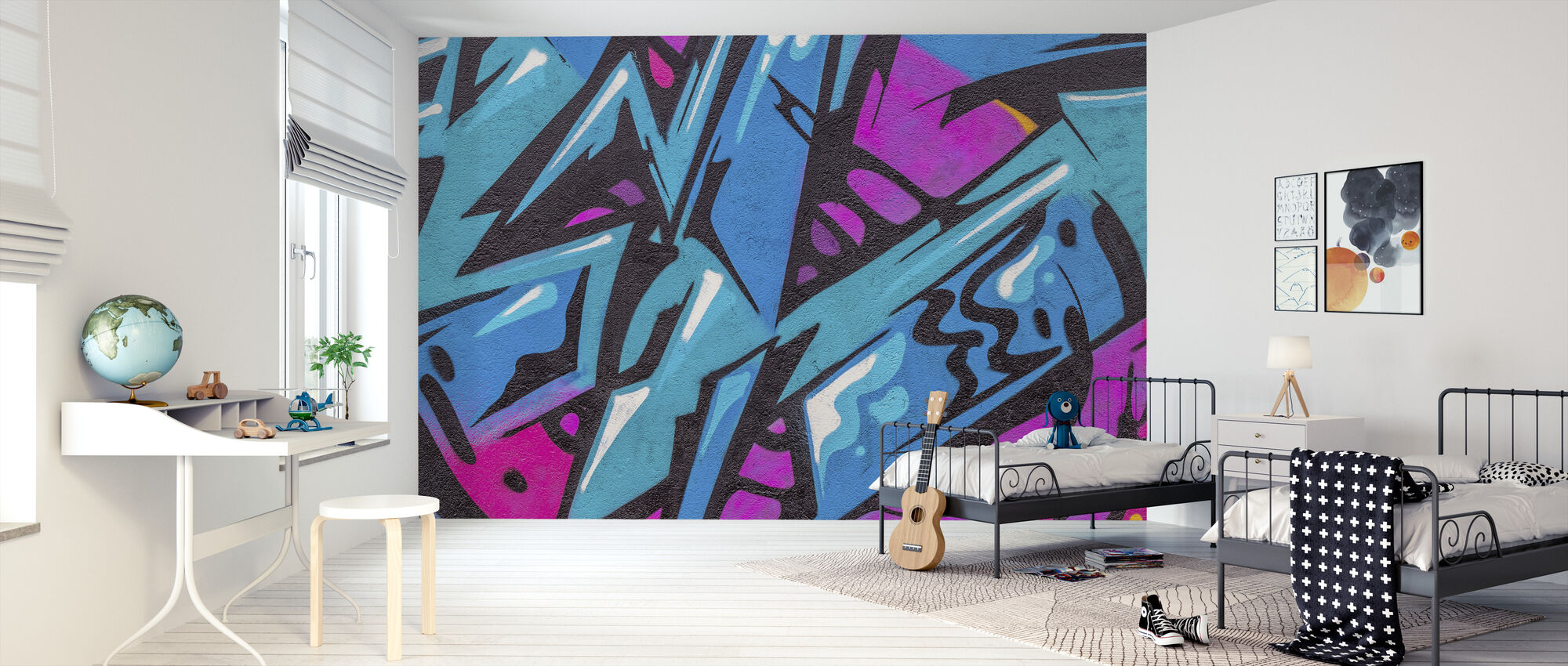 Fashion Color Graffiti - Wallpaper - Kids Room
