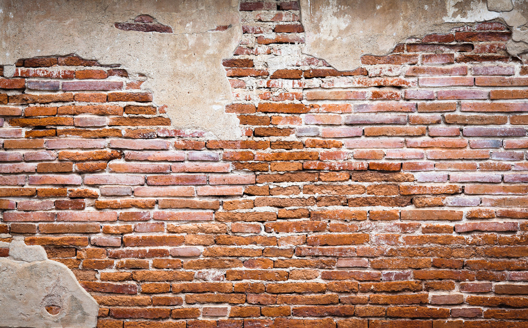 Fragment of Brick Wall Fototapeter & Tapeter 100 x 100 cm