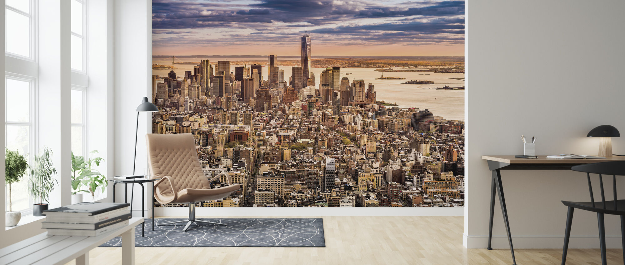 New York Panorama before Sunset - Wallpaper - Living Room